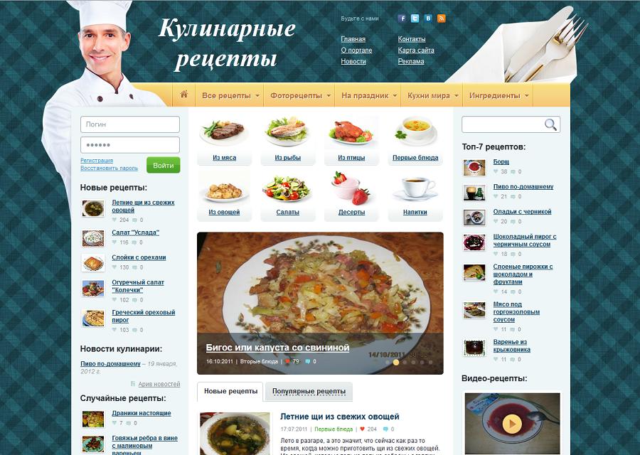 Кулинарные сайты с пошаговыми рецептами и фото