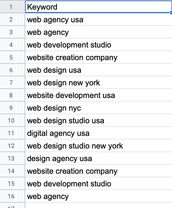 Умножение списков запросов в Google Таблицах